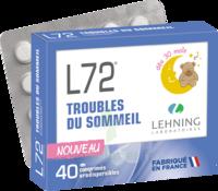 Lehning L72 Comprimés Orodispersibles Plq Pvc/pvdc/alu/40 à SAINT-MARCEL