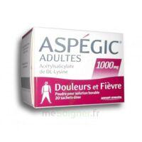Aspegic Adultes 1000 Mg, Poudre Pour Solution Buvable En Sachet-dose 20 à SAINT-MARCEL