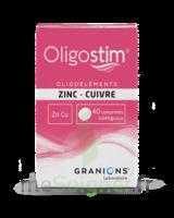 Oligostim Zinc Cuivre Cpr Subl T/40 à SAINT-MARCEL