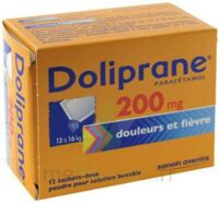 Doliprane 200 Mg Poudre Pour Solution Buvable En Sachet-dose B/12 à SAINT-MARCEL