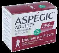 Aspegic Adultes 1000 Mg, Poudre Pour Solution Buvable En Sachet-dose 30 à SAINT-MARCEL