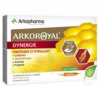 Arkoroyal Dynergie Ginseng Gelée Royale Propolis Solution Buvable 20 Ampoules/10ml à SAINT-MARCEL
