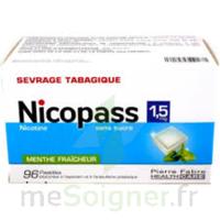 Nicopass 1,5 Mg Pastille Sans Sucre Menthe Fraîcheur Plq/96 à SAINT-MARCEL