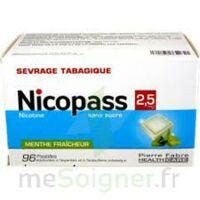 Nicopass 2,5 Mg Pastille Menthe Fraîcheur Sans Sucre Plq/96 à SAINT-MARCEL