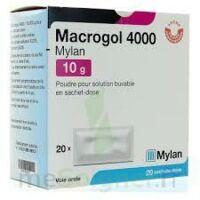 Macrogol 4000 Mylan 10 G, Poudre Pour Solution Buvable En Sachet-dose à SAINT-MARCEL