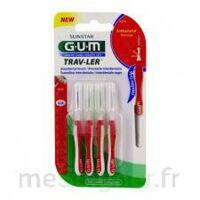 Gum Trav - Ler, 0,8 Mm, Manche Rouge , Blister 4 à SAINT-MARCEL