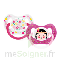Dodie Duo Sucette Anatomique Silicone +18mois Girly à SAINT-MARCEL