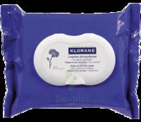 Klorane Soins Des Yeux Au Bleuet Lingette Démaquillante Biodégradable Pack/25 à SAINT-MARCEL