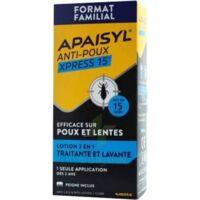 Apaisyl Anti-poux Xpress 15' Lotion Antipoux Et Lente 100ml+peigne à SAINT-MARCEL