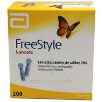 Freestyle Lancets Lancettes Stériles De Calibre 28g B/200 à SAINT-MARCEL